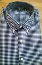 Ralph Lauren Men's Blue/White Checked Long-sleeve Shirt. XL/Slim-fit. With tags