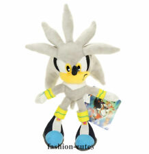 New Silver Sonic the Hedgehog Plush Soft Stuffed Toy Doll Figure 23cm Gift