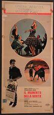 Locandina IL MOMENTO DELLA VERITA' 1965 RARA! LINDA CHRISTIAN MANFREDO CINERIZ