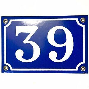 Ancien numéro de rue, Maison plaque émaillée, en relief N°39