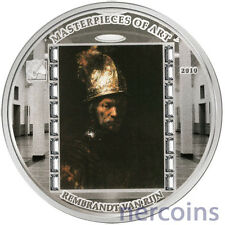Cook Islands 2010 Man in Golden Helmet by Rembrandt $20 Pure Silver Proof Coin