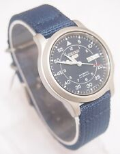 SNK807K2 SEIKO 5 Military Style Automatic Men's Blue Watch Brand New !!