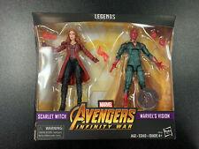 Marvel Legends Avengers Infinity War Scarlet Witch & Vision Set
