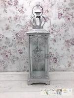 Deko Laterne Shabby Rustikal Vintage Windlicht Teelicht Dekoration weiß gewischt