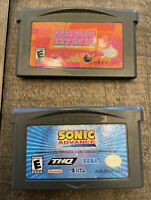 Sonic Advance And Princess Natasha Game Boy Advance Authentic Tested 2 Games