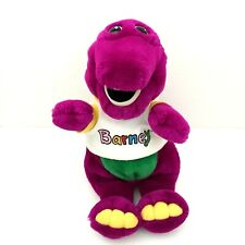 "Vintage 1992 Barney The Purple Dinosaur w Original Tee 13"" Plush Toy Lyons Group"
