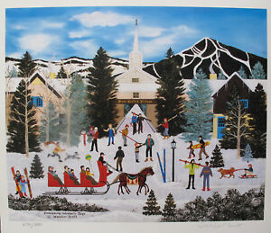 Jane Wooster Scott EMBRACING WINTERS TOYS Hand Signed Limited Edition Lithograph