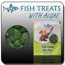 FISHSCIENCE FISH FOOD SCIENCE TREATS STICK ON GLASS TABLETS WITH ALGAE PLEC