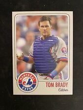 1995 Tom Brady MLB Draft Rookie Card Montreal Expos