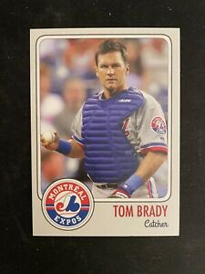 1995 Tom Brady MLB Draft Rookie Card Montreal Expos