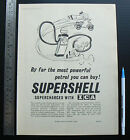 1956 vintage ad SUPERSHELL Super Shell petrol ICA advertisement advertising car
