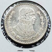 1961 Mexico UN One Peso Silver Coin Choice / Gem BU Uncirculated
