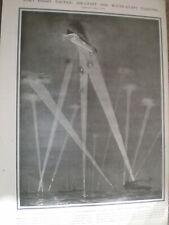 Armada Británica manchado Zeppelin Raiders Charles peras 1916 antiguos impresión ref un
