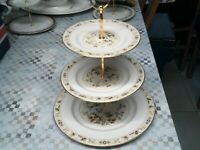 royal doulton MANDALAY FULL SIZE 3 tier cake stand for dinner/tea set