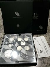 2014 Limited Edition 8 Coin SILVER PROOF SET Box + COA SEALED RARE 🔥🔥