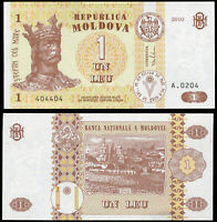 Moldavie 1 Leu. NEUF 2010 Billet de banque Cat# P.8h