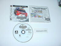 NASCAR THUNDER 2002 game COLLECTOR'S EDITION complete w/ manual Sony Playstation