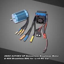 3650 4370KV 4P Sensorless Brushless Motor w/45A ESC for 1/10 RC Car High Quality