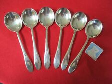 New Listing(6) Rogers Is Silverplate Gumbo Soup Spoons, 1938 Pickwick Stk#M