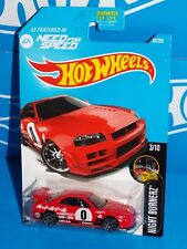 Hot Wheels 2016 Night Burnerz #83 Nissan Skyline GT-R (R34) Red Need For Speed