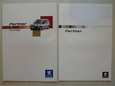 Prospekt Peugeot Partner Kastenwagen, 9.2003, 16 Seiten + Preise/Ausstattungen