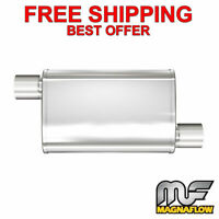 "MagnaFlow XL - 3 Chamber Stainless Steel Turbo Muffler  2.25"" O/O 18"" Body 13265"