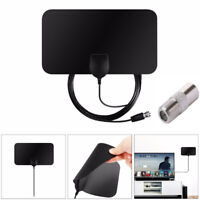 TV Antenna HDTV DVB-T2 Flat HD Digital Indoor Amplified 50 Mile Range TVFox TPI
