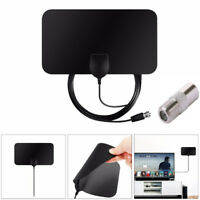 TV Antenna HDTV DVB-T2 Flat HD Digital Indoor Amplified 50 Mile Range TVFox vd