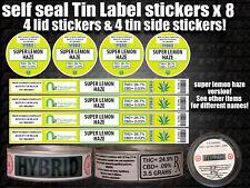 SUPER LEMON HAZE tin can Labels Sticker Marijuana weed CALI RX Medical Cannabis