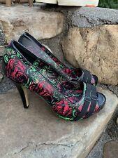 Iron Fist Heels Size 41 Boho Retro Open Toe Casual Dress ECU