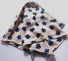 BANDANA BLUE CLOUDS / FLOWERS COTTON HEADWRAP SCARF UNISEX WOMEN MEN KIDS