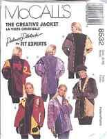 8532 UNCUT McCalls SEWING Pattern Creative Jacket Palmer Pletsch FF OOP SEW FF