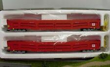 Heris 16096 2-tlg set auto carro de transporte rojo PE IV/V de la Renfe h0