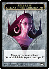 TOKEN EMBLEMA EMBLEM Liliana dei Reami Oscuri - of the Dark Realms MAGIC M13 Ita