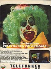 PUBLICITE 1975  TELEFUNKEN  téléviseur couleur  sereine