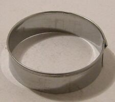 Cookie/Biscuit cutter Round s/s 6cm &1.5cm Deep Guaranteed Quality