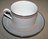 "Mikasa Grandeur Gray LAD01 Cup (2 3/8"") & Saucer (6"") Set"
