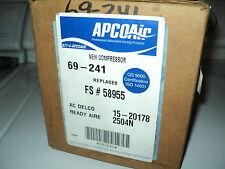 APCO AIR AC COMPRESSOR W/CLUTCH ASSY NEW 69-241 BUICK CADILLAC CHEVY PONTIAC
