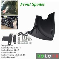 Front Spoiler Cover Kit For Harley Sportster Dyna Fatboy Softail V-ROD Touring