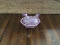 """Boyd Glass Chick Salt Hen on Nest Lilac  2 1/2"""" , """"2nd five years """""""