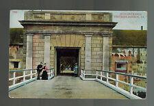 1909 USS MIssouri Battleship Postcard Cover to Akron OH Fortress Monroe Virginia