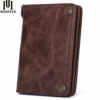 Men Wallet Genuine Leather Fashion Clutch Purse With Coin Pocket Card Holder
