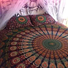 Bohemian Mandala Bedspreads Tapestry Hippie Blue Indian Bed Cover Throw Dorm