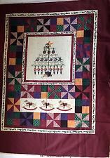 DAISY KINGDOM WALL PANEL 44 x 35 Past & Present TOYS rocking horse FABRIC  B