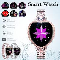 Waterproof Smart Watch Heart Shaped Bracelet Women For iPhone Android Samsung LG