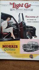 The Light Car Magazine Sept 1956 Renault Caravans Vauxhall M.G. Feature Adverts