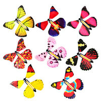 2 Pcs Magic Flying Plastic Butterfly Surprise Birthday Christmas Gift DR