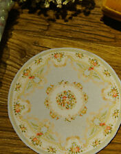 1:12 Beautiful Victorian Floral Roses ROUND Miniature Rug