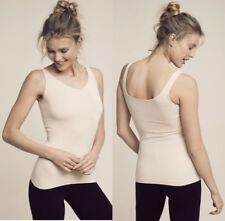 Women's Anthropolgie seamless scoop white tank top $24 price tag size large NWT