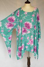 1X 2X 3X Kimono Sleeve Soft Cotton Caftan Plus Kaftan Shirt Top Tunic P2205-1-K
